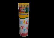 مداد رنگی  استوانه ای 12 عددی+