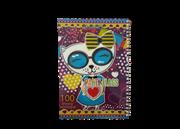 دفتر نقاشی جلد طلقی فنری 100 برگ+