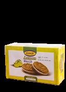 بیسکویت کرمدار با طعم لیموترش 380 گرمی+Lemon Flavor Cream Biscuit