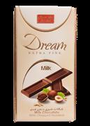 شکلات شیری با مغزی فندق 60 گرمی+Milk Chocolate With Chopped Hazelnut
