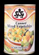 کنسرو سبزیجات مخلوط 385 گرمی+  Canned Cixed Vegetables